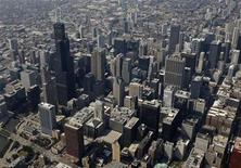 <p>A view of the Chicago skyline August 13, 2009. REUTERS/John Gress</p>
