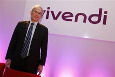 <p>Jean-Bernard Lévy, le président du directoire de Vivendi. Le premier groupe européen de médias et de divertissement en termes de capitalisation boursière a vu son résultat opérationnel ajusté progresser de 5,1% de au troisième trimestre, soit une hausse largement supérieure aux attentes. Il a en revanche accusé une baisse de 2,5% de son chiffre d'affaires. /Photo prise le 1er septembre 2009/REUTERS/Benoît Tessier</p>