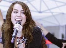 """<p>Singer Miley Cyrus performs on NBC's """"Today"""" show in New York in this August 28, 2009 file photo. REUTERS/Brendan McDermid</p>"""