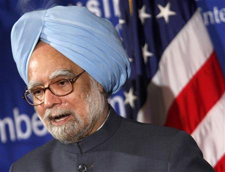 Prime Minister of India Manmohan Singh speaks to the U.S. Chamber of Commerce in Washington, November 23, 2009. REUTERS/Jim Young