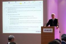 <p>Jean-Bernard Lévy, le président du directoire de Vivendi. Le groupe français a porté sa participation à 72,1% dans le groupe brésilien de télécommunications GVT après l'avoir relevée de 12,7%. /Photo prise le 1er septembre 2009/REUTERS/Benoît Tessier</p>