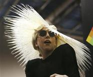 <p>Singer Lady Gaga attends a media event where she was announced as Polaroid creative director at the 2010 International Consumer Electronics Show (CES) in Las Vegas January 7, 2010. The show runs January 7-10. REUTERS/Mario Anzuoni</p>