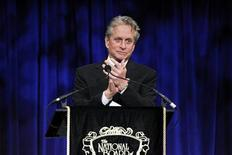 <p>Actor Michael Douglas presents an award during the National Board of Review Award ceremony in New York January 12, 2010. REUTERS/Lucas Jackson</p>