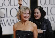 """<p>Atriz Glenn Close, durante o prêmio Globo de Ouro, disse que voltará com nova temporada da série """"Damages"""". REUTERS/Danny Moloshok</p>"""