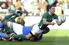 <p>Un momento della partita di rugby Irlanda-Italia giocata oggi al Croke Park Stadium di Dublino. REUTERS/Cathal McNaughton</p>