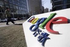 <p>Insegna di Google nel quartier generale di Pechino. Foto d'archivio. REUTERS/Jason Lee</p>