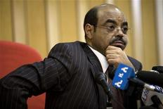 <p>Ethiopian Prime Minister Meles Zenawi speaks to the media at his office in Addis Ababa, April 13, 2009. REUTERS/Irada Humbatova</p>