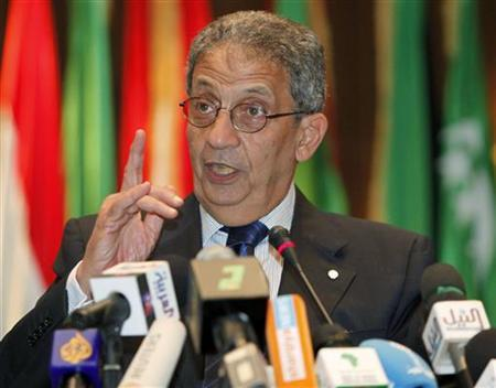 Arab League Secretary General Amr Moussa addresses the media during a news conference in Sirte March 25, 2010. REUTERS/Ismail Zetouny