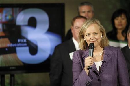 California Republican Gubernatorial candidate and former eBay chief executive Meg Whitman speaks before the opening of her campaign's Orange County headquarters in Costa Mesa, California February 22, 2010. REUTERS/Mario Anzuoni