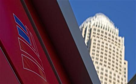 A Bank of America logo is seen before the corporate center in Charlotte, North Carolina January 19, 2010. REUTERS/Chris Keane