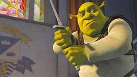 """<p>A scene from """"Shrek the Third"""" in an image courtesy of DreamWorks Animation. REUTERS/Handout</p>"""