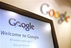 <p>Logo di Google in foto d'archivio. REUTERS/Tyrone Siu</p>