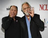 "<p>Actors Cheech Marin (L) and Tommy Chong gesture as they arrive for the taping of the 2008 ""NCLR Alma"" awards at the Civic Auditorium in Pasadena, California, August 17, 2008. REUTERS/Mario Anzuoni</p>"