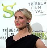 """<p>Atriz Cameron Diaz comparece à estreia de """"Shrek para Sempre"""" em Nova York. O quarto e último filme da série """"Shrek"""" abriu na quarta-feira à noite o festival de cinema de Tribeca, desta vez em 3D. 21/04/2010 REUTERS/Jessica Rinaldi</p>"""