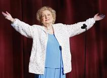 <p>Betty White speaks on stage at the 36th Annual Daytime Emmy Awards at the Orpheum Theatre in Los Angeles, August 30, 2009. REUTERS/Danny Moloshok</p>