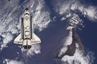 Atlantis in space