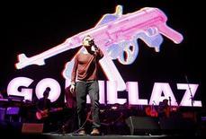 """<p>Damon Albarn of """"Gorillaz"""" performs at the Coachella Music Festival in Indio, California April 18, 2010. REUTERS/Mario Anzuoni</p>"""