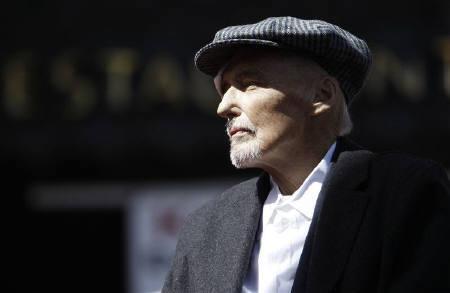 5月29日、米俳優デニス・ホッパーさんが前立腺がんの合併症により74歳で死去。3月撮影(2010年 ロイター/Mario Anzuoni)