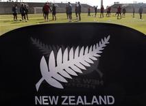 <p>Футболисты сборной Новой Зеландии тренируются на стадионе рядом с Йоханнесбургом, 12 июня 2010 года. Новая Зеландии сыграет против Словакии в первом для себя матче чемпионата мира в ЮАР во вторник. REUTERS/Daniel Munoz</p>