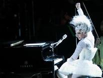 <p>Singer Lady Gaga performs during the 21st birthday celebration of the Rainforest Fund at Carnegie Hall in New York May 13, 2010. REUTERS/Lucas Jackson</p>