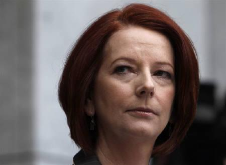 Australia's Prime Minister Julia Gillard attends a news conference at Federal Parliament House in Canberra June 25, 2010. REUTERS/Mick Tsikas