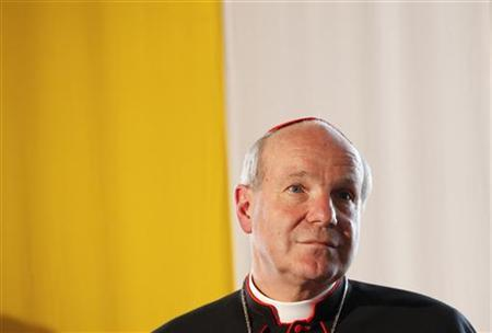 Austrian Cardinal Christoph listens to journalists questions during a news conference in Mariazell, June 23, 2010. REUTERS/Leonhard Foeger