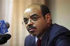 <p>Ethiopia's Prime Minister Meles Zenawi addresses the media inside his office in the capital Addis Ababa September 16, 2009. REUTERS/Irada Humbatova</p>