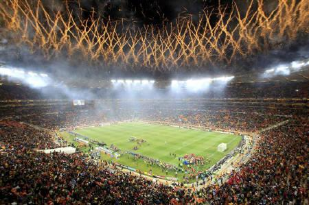 Record crowd at Soccer City in first post-World Cup event