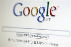 <p>Foto de archivo de la hoja de inicio de la versión japonesa del buscador de internet Google vista en desde un ordenador en Toko, ago 19, 2009. La policía de Corea del Sur dijo que el martes había allanado la oficina de Google Inc en Seúl ante la sospecha que el líder de búsquedas de internet había recopilado ilegalmente datos de los usuarios. REUTERS/Stringer</p>