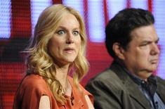 "<p>Cast member and executive producer Laura Linney participates in the panel for ""The Big C"" during the CBS, Showtime and the CW Television Critics Association press tour in Beverly Hills, California July 29, 2010. REUTERS/Phil McCarten</p>"