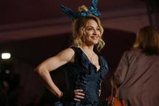 """<p>Singer Madonna arrives for the Metropolitan Museum of Art Costume Institute Gala """"The Model As Muse: Embodying Fashion"""" in New York May 4, 2009. REUTERS/Eric Thayer</p>"""