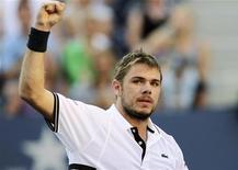 <p>O suíço Stanislas Wawrinka irá para as quartas-de-final do U.S. Open pela primeira vez. 07/09/2010 REUTERS/Eduardo Munoz</p>
