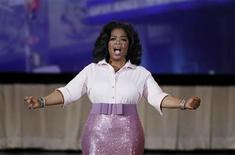 <p>U.S talk show host Oprah Winfrey speaks to the audience during a special live show at Radio City Music Hall in celebration of O Magazine's 10th anniversary in New York City, May 7, 2010. REUTERS/Lucas Jackson</p>