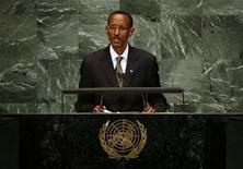<p>Rwanda's President Paul Kagame speaks during the Millennium Development Goals Summit at the U.N. headquarters in New York September 21, 2010. REUTERS/Mike Segar</p>