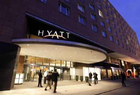 A General Views Shows The Main Entrance Of Grand Hyatt Hotel In Berlin March 6 2010 Reuters Fabrizio Bensch Files