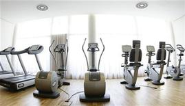 "<p>The fitness studio in the spa area of the ""Balance Resort"" hotel is pictured in the village of Stegersbach in the Austrian province of Styria May 15, 2008. REUTERS/Leonhard Foeger</p>"
