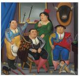 """<p>The artwork """"Family Scene,"""" by Colombian artist Fernando Botero is shown in this undated handout photo. REUTERS/Christie's Images Ltd. 2010/Handout</p>"""