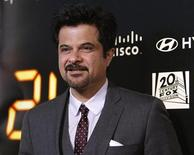 "<p>Anil Kapoor poses at the party for the television series finale of ""24"" in Los Angeles April 30, 2010. REUTERS/Mario Anzuoni</p>"