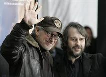 "<p>Executive producer Steven Spielberg and director Peter Jackson arrive for the premiere of the film ""The Lovely Bones"" in Hollywood, California December 7, 2009. REUTERS/Jason Redmond</p>"
