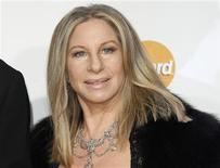 <p>Barbra Streisand arrives at the 2011 MusiCares Person of the Year tribute honoring her in Los Angeles February 11, 2011. REUTERS/Danny Moloshok</p>