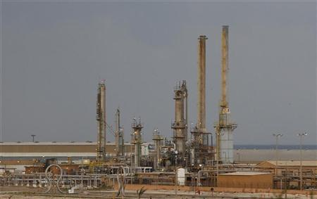 An oil export terminal is seen in the town of Brega, February 25, 2011. REUTERS/Goran Tomasevic