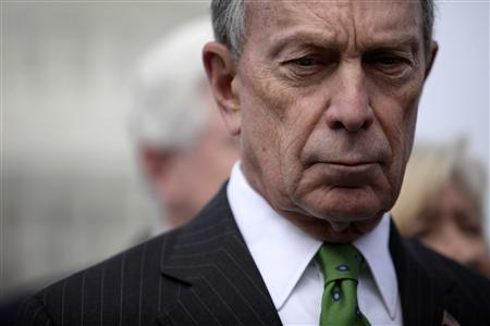 New York City Mayor Michael Bloomberg, co-chairman of Mayors Against Illegal Guns, is pictured during a media event about new legislation to amend the background check system for guns, on Capitol Hill in Washington, March 15, 2011. REUTERS/Jason Reed