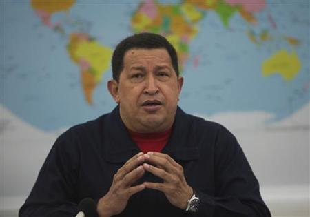 Venezuelan President Hugo Chavez speaks during a meeting with representatives of the Bolivarian Alternative for the Americas (ALBA) at the Miraflores Palace in Caracas March 4, 2011. REUTERS/Miraflores Palace/Handout