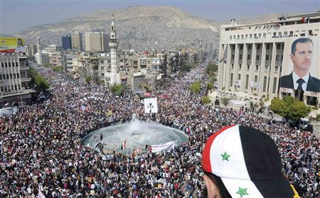 Syria mobilizes thousands for pro-Assad marches
