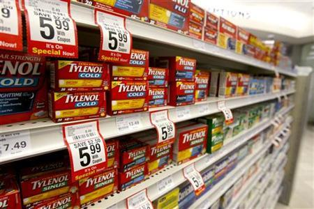 Boxes of Tylenol cold medication are seen in a pharmacy in Toronto January 31, 2008. REUTERS/Mark Blinch
