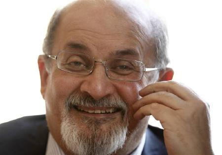 Author Salman Rushdie talks during an interview with Reuters in central London, October 8, 2010.    REUTERS/Andrew Winning/Files