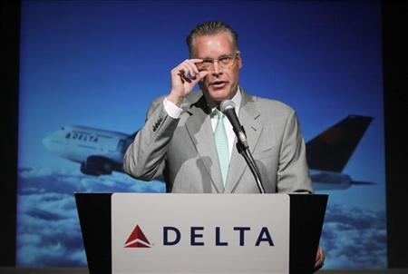 Delta Air Lines President Edward Bastian speaks during a news conference in Tokyo September 2, 2010. REUTERS/Toru Hanai