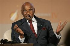 <p>File photo of Senegal's President Abdoulaye Wade speaking to the media during a news conference on the first day of Petra Conference of Nobel Laureates June 18, 2008. REUTERS/Muhammad Hamed</p>