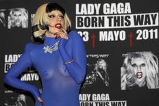 """A cantora Lady Gaga promovendo seu novo álbum """"Born This Way"""", na Cidade do México. O álbum será lançado oficialmente no dia 23 de maio. Foto de Arquivo 6/05/2011 REUTERS/Henry Romero"""