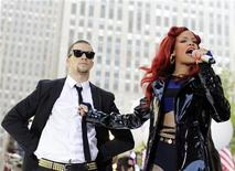"""<p>Singer Rihanna performs on NBC's """"Today"""" show in New York, May 27, 2011. REUTERS/Brendan McDermid</p>"""